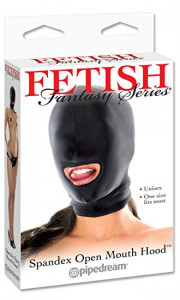 Fetish Fantasy Spandex Open Mouth Hood, Adult Couple Kinky Fetish Foreplay, New