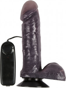 Real One 6 Inch Black Vibrating